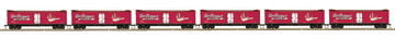 HO Scale MTH HO 6-Car R40-2 Reefer Set DPSU - Dr. Pepper | Model Train Sets