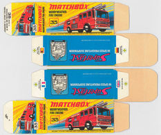 Matchbox Miniatures Picture Box - I Type - Merryweather Fire Engine | Collectible Packaging