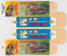 Matchbox Miniatures Picture Box - I Type - Racing Mini | Collectible Packaging