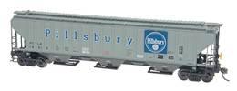 4750 cubic foot rib sided  3 bay covered hopper   pillsbury 14315 model trains %2528rolling stock%2529 004f875d 31b6 4742 8875 bad36c2e40b8 medium