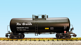 Denver And Rio Grande Western Tank Car 3721 - 42 Foot Modern Tank Car | Model Trains (Rolling Stock)