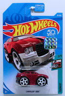 Chrysler 300C | Model Cars | HW 2018 - Collector # 030/365 - Tooned 2/5 - Chrysler 300C (Blings) - Metallic Dark Red - USA 50th Card with Factory Sticker