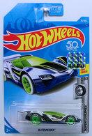Blitzspeeder | Model Cars | HW 2018 - Collector # 035/365 - Super Chromes 2/10 - Blitzspeeder - Chrome - USA 50th Card with Factory Sticker