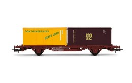 Flat wagon with 2 containers %2528containerships 126167 and msc%2529 model trains %2528rolling stock%2529 31665a71 00d3 4244 9e53 c1552a46f7ae medium