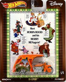 3D-Livery | Model Motorcycles | 2019 Hot Wheels Pop Culture Disney Robin Hood Orange