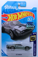 Ice Charger | Model Cars | HW 2018 - Collector # 079/365 - HW Screen Time 8/10 - Ice Charger - Satin Gray - USA 50th Card with 'The Fate of the Furious' and Factory Sticker