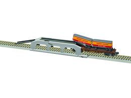 Piggyback Unloader W/Union Pacific Flatcar & Trailers | Model Buildings and Structures