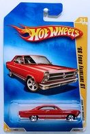 '66 Ford Fairlane GT | Model Cars | HW 2009 - Collector # 031/196 - New Models 31/42 - '66 Ford Fairlane GT - Red - USA Card