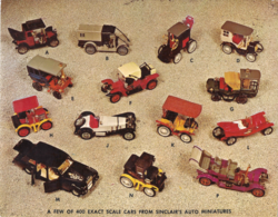 A Few Of 400 Exact Scale Cars From Sinclair's Auto Miniatures | Postcards