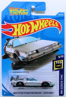 Back To The Future Time Machine - Hover Mode | Model Cars | HW 2019 - Collector # 108/250 - HW Screen Time 9/10 - Back To The Future Time Machine - Hover Mode - Silver - International Long Card