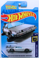 Back To The Future Time Machine - Hover Mode | Model Cars | HW 2019 - Collector # 108/250 - HW Screen Time 9/10 - Back To The Future Time Machine - Hover Mode - Silver - USA Card