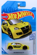 Volkswagen Golf GTI | Model Cars | HW 2019 - Collector # 019/250 - Volkswagen 5/10 - Volkswagen Golf GTi - Yellow / MOMO - International Long Card
