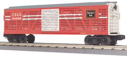O gauge rail king chicago%252c burlington%252c and quincy railroad stock car 50599 model trains %2528rolling stock%2529 0b5d34c1 780a 44ba 914f 4b67c8644c4e medium