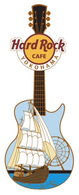 Guitar With Ferris Wheel & Sailing Ship | Pins & Badges