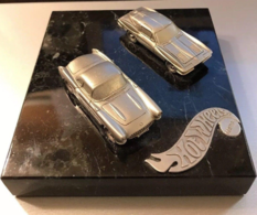 Hot Wheels Employee Service Award Corvette Pewter 2 Car Set | Trophies