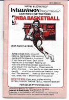 1979 Intellivision NBA Basketball Game Cartridge & Instructions*  | Video Games | Cartridge Instructions Front