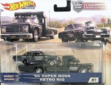 '66 Super Nova - Retro Rig | Model Vehicle Sets | 2019 Hot Wheels Car Culture - Team Transport - '66 Super Nova - Retro Rig