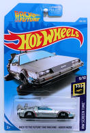 Back To The Future Time Machine - Hover Mode | Model Cars | HW 2019 - Collector # 108/250 - HW Screen Time 9/10 - Super Treasure Hunts - Back To The Future Time Machine - Hover Mode - Silver - USA Card