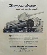Tanks For Attack ― Need Tank Cars For Supply | Print Ads