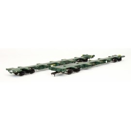 Dapol - FEA-B Spine Wagon Twin Pack Freightliner 640221 & 640222 | Model Train Sets