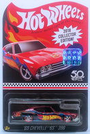 '69 Chevelle SS 396 | Model Cars | HW 2018 - Collector Edition # FKF88 - '69 Chevelle SS 396 - Metallic Red - KMart Exclusive Mail-In - Factory Set Sticker