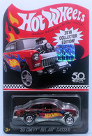 '55 Chevy Bel Air Gasser | Model Racing Cars | HW 2018 - Collector Edition # FKF90 - '55 Chevy Bel Air Gasser - Metallic Red - KMart Exclusive Mail-In - Factory Set Sticker