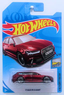 '17 Audi RS 6 Avant | Model Cars | HW 2018 - Super Treasure Hunts - Factory Fresh 5/10 - '17 Audi RS 6 Avant - Spectraflame Red - International Long Card