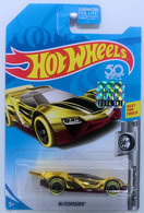 Blitzspeeder | Model Cars | HW 2018 - Treasure Hunts - Super Chromes 2/10 - Blitzspeeder - Chrome - USA 50th Card with Factory Sticker