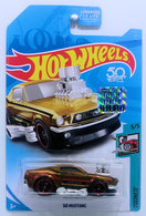 '68 Mustang  | Model Cars | HW 2018 - Super Treasure Hunts - Tooned 5/5 - '68 Mustang - Spectraflame Dark Gold - Real Riders - USA 50th Card with Factory Sticker