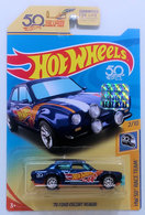 '70 Ford Escort RS1600 | Model Cars | HW 2018 - Super Treasure Hunts - HW 50th Race Team 2/10 - '70 Ford Escort RS1600 - Spectrflame Dark Blue - Real Riders - USA 50th Card with Factory Sticker