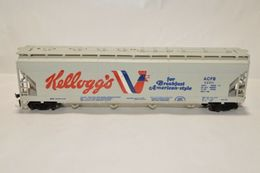 HO scale Tyco Kellogg's Cereal ACF Billboard Advertising Covered Hopper 52315 | Model Trains (Rolling Stock)
