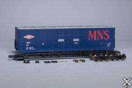 Kit Classics HO Evans (USRE) 5100 RBL 8' Double-Plug-Door Boxcar, Minneapolis Northfield & Southern MNS 571 | Model Train Kits (Rolling Stock)