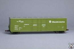 Kit Classics HO Evans (USRE) 5100 RBL 8' Double-Plug-Door Boxcar, Willamette Industries USLX 10844 | Model Train Kits (Rolling Stock)