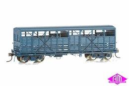 NSWGR Bogie Cattle Wagon - BCW PTC Blue Pack 5 | Model Train Sets