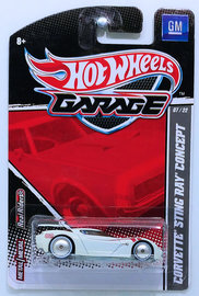 Corvette Sting Ray Concept | Model Cars | HW 2011 - Garage / GM 07/22 - Corvette Sting Ray Concept - White - Metal/Metal & Real Riders