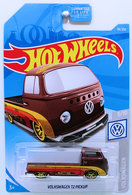 Volkswagen T2 Pickup | Model Trucks | HW 2019 - Collector # 096/250 - Volkswagen 3/10 - Super Treasure Hunts - Volkswagen T2 Pickup - Spectraflame Brown - Real Riders - USA Card