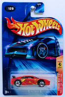 Ferrari F355 Challenge | Model Cars | HW 2004 - Collector # 129/212 - Ferrari Heat Series 2/5 - Ferrari F355 Challenge - Red - 5 Spokes - USA '04 New Card - ERROR Front Wheel is bent due to misaligned interior.