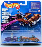 Towing 2010 - Action Pack | Model Vehicle Sets | Hot Wheels 1999 Action Pack - Towing 2010 - Shadow Jet 2 & Tow Jam - with Figures - International Package