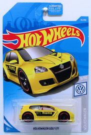 Volkswagen Golf GTI | Model Cars | HW 2019 - Collector # 019/250 - Volkswagen 5/10 - Volkswagen Golf GTi - Yellow / MOMO - USA Card