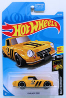 Fairlady 2000 | Model Racing Cars | HW 2019 - Collector # 156/250 - Nightburnerz 10/10 - Fairlady 2000 - Yellow - USA Card