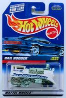 Rail Rodder    | Model Trains (Locomotives) | HW 1999 - Collector # 1043 - Rail Rodder - White - China Painted Base - USA Blue Car Card