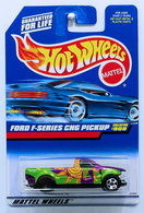 Ford F-Series CNG Pickup    | Model Trucks | HW 1999 - Collector # 908 - Ford F-Series CNG Pickup - Metal Flake Purple - 5 Spoke - USA Blue Car Card - ERROR: Rear Wheel is Black, has NO Chrome!