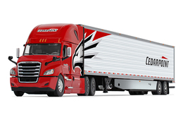Cedarpoint Trucking - Freightliner Cascadia With High-Roof Sleeper And 53' Utility Skirted Refrigerated Trailer   Model Vehicle Sets