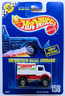 Mercedes-Benz Unimog     | Model Trucks | HW 1991 - Collector # 158 - Mercedes-Benz Unimog - White / Castrol - CT Wheels - USA Blue Card with Speed Points