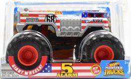 5 Alarm | Model Trucks | 2019 Hot Wheels Monster Trucks 5 Alarm Red-White-Blue