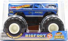 Bigfoot | Model Trucks | 2019 Hot Wheels Monster Trucks Bigfoot 4x4x4 Metal Flake Blue