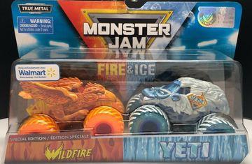 Wild Fire & Yeti | Model Vehicle Sets | Spin Master Fire & Ice Wildfire & Yeti Walmart Exclusive.