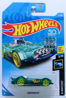 Monteracer | Model Racing Cars | HW 2018 - Collector # 034/365 - X-Raycers 3/10 - Monteracer - Transparent Sea Green - USA 50th Card with Factory Sticker