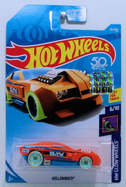 "Hot Wheels 2018 #061//365 Hollowback Orange /""Glow/"" HW Glow wheels"