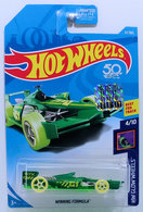 Winning Formula | Model Racing Cars | HW 2018 - Collector # 037/365 - HW Glow Wheels 4/10 - Winning Formula - Green - USA 50th Card with Factory Sticker
